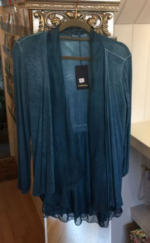 Silky Open Cardigan - Teal